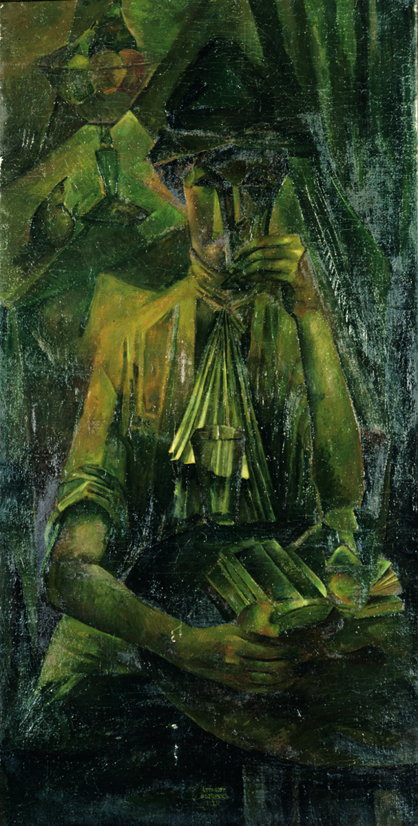 The woman with a goblet