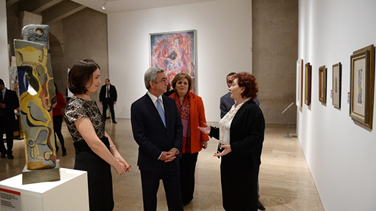 PRESIDENT OF RA SERZH SARGSYAN VISITED THE CAFESJIAN CENTER FOR THE ARTS