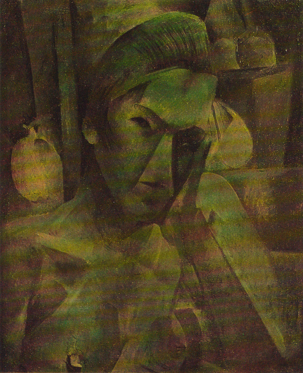 Woman in cubist style
